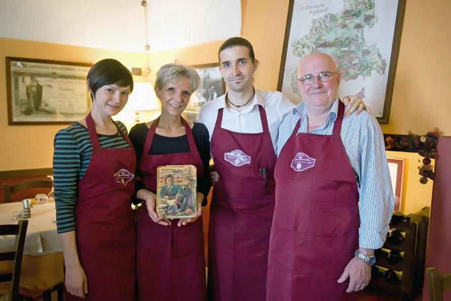 Foto dei titolari dell'osteria enoteca alto piemonte La Brioska